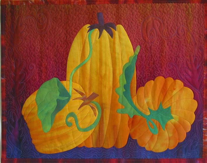 Three Pumpkins quilt
