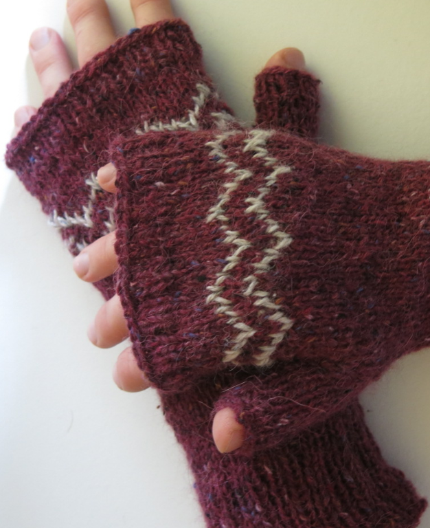 Blaze Mitts Knitting Pattern