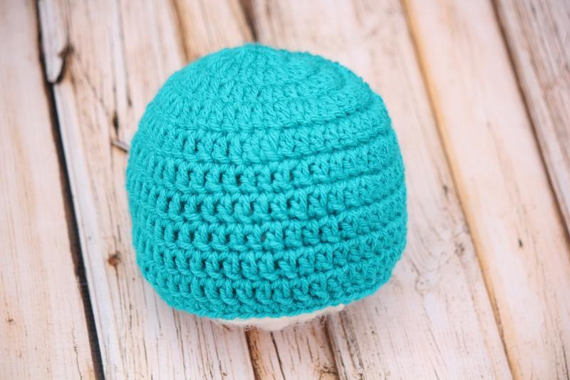Basic Beginner Beanie FREE Crochet Pattern