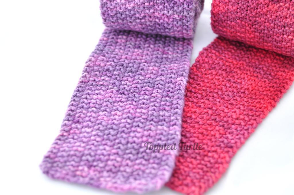 Modified Moss Stitch Scarf Knitting Pattern