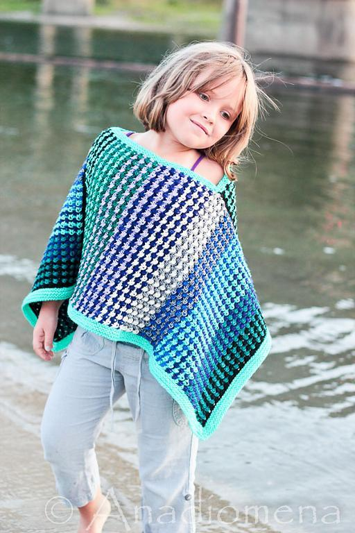 Ice Queen Poncho FREE Knitting Pattern