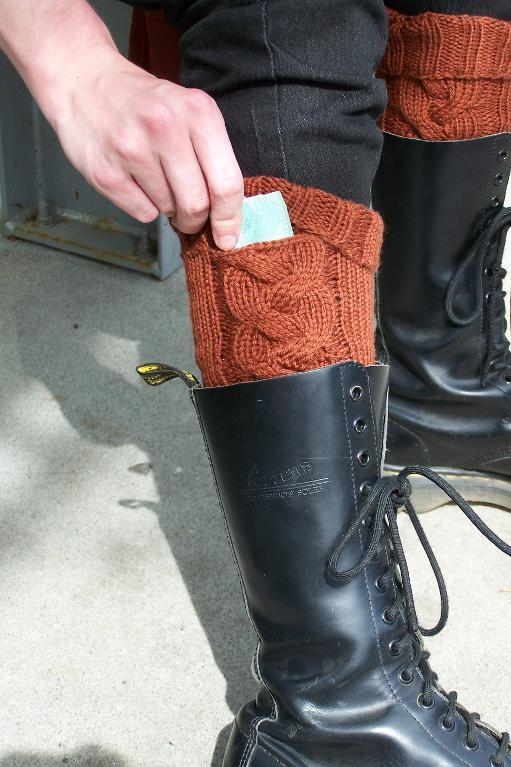 Boot socks with pockets
