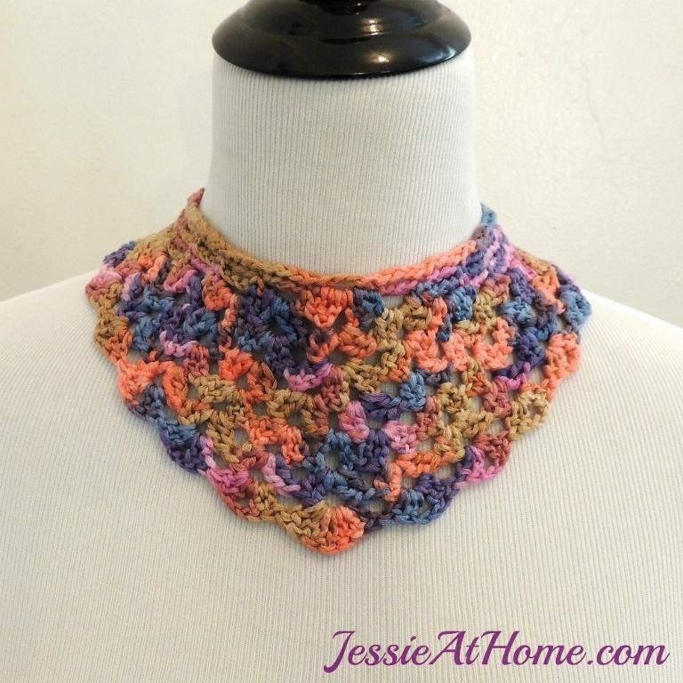 Shelly FREE Crochet Bib Necklace Pattern