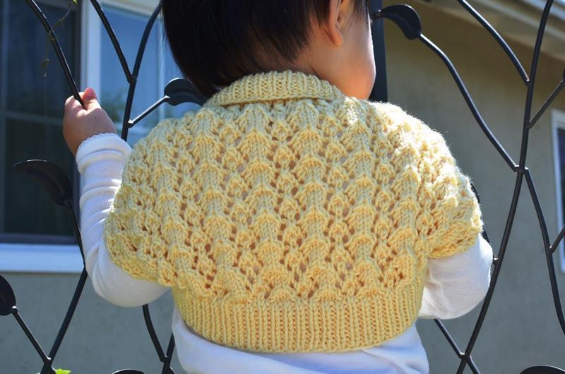 Easy and Lacy Baby Bolero FREE Knitting Pattern