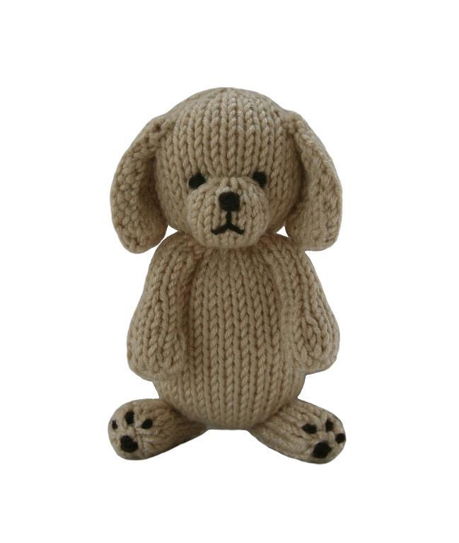 FREE Puppy Stuffed Toy Knitting Pattern