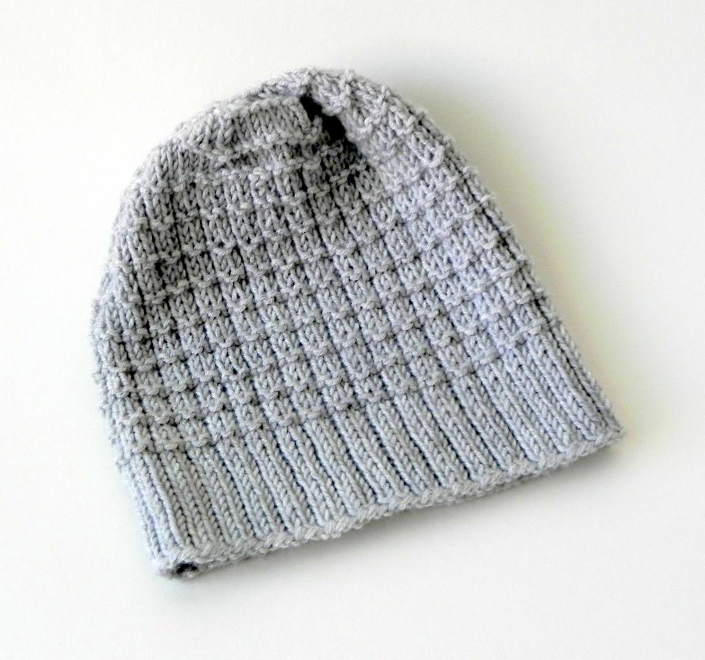 Waffle Hat FREE Knitting Pattern