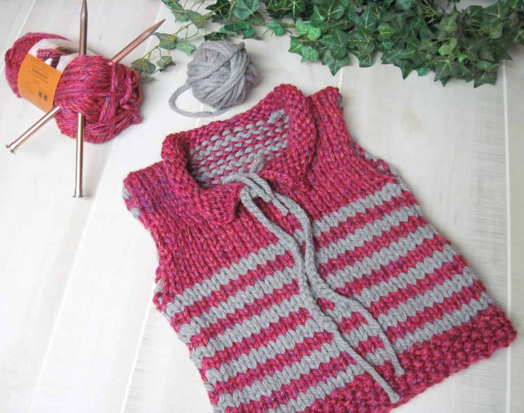 Free Toddler Striped Vest Knitting Pattern