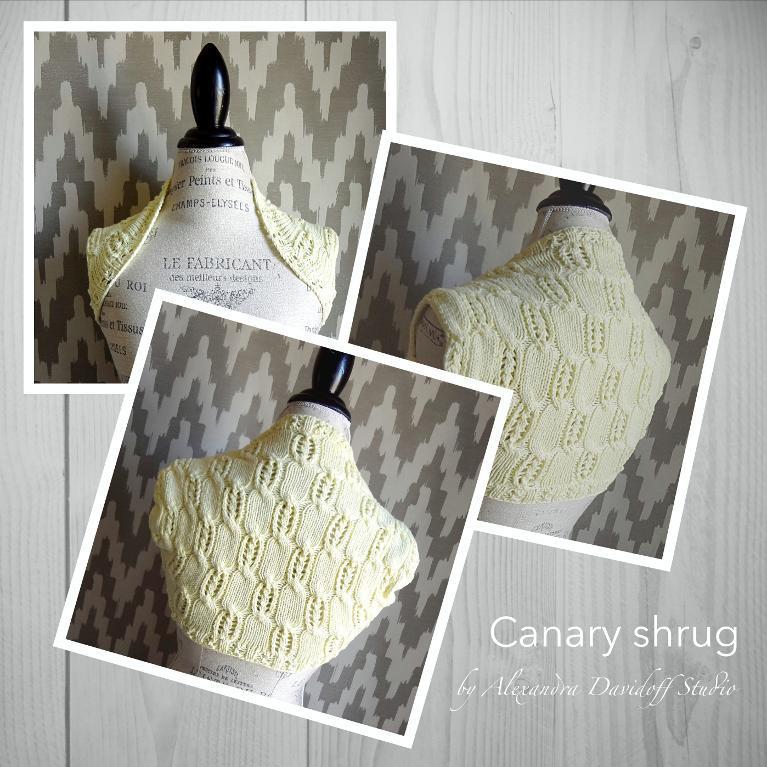 Canary Shrug FREE Knitting Pattern