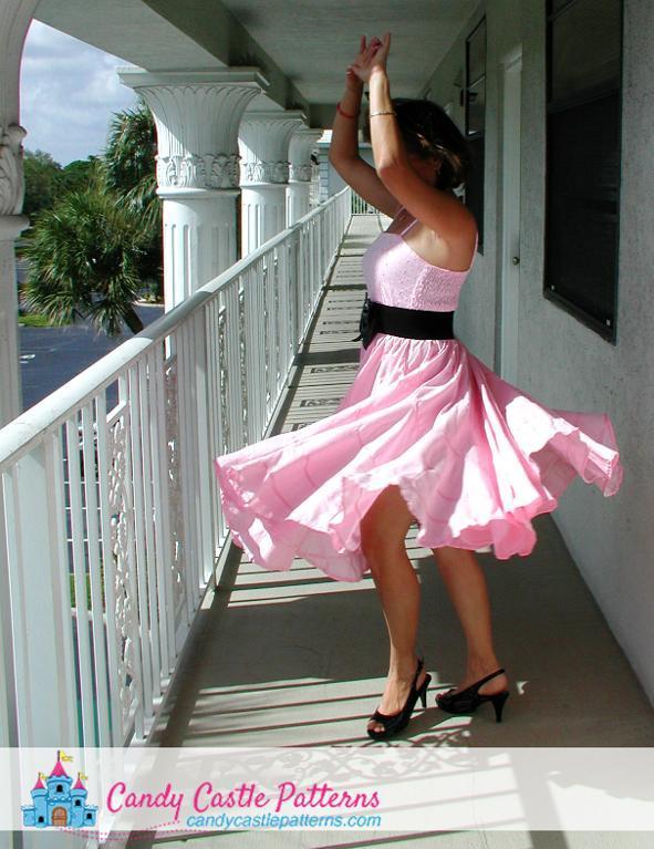 Peppermint Swirl Ladies Dress Sewing Pattern