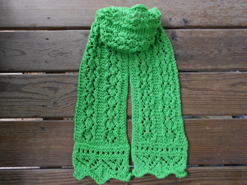 Spring Moss Lace Scarf FREE Knitting Pattern