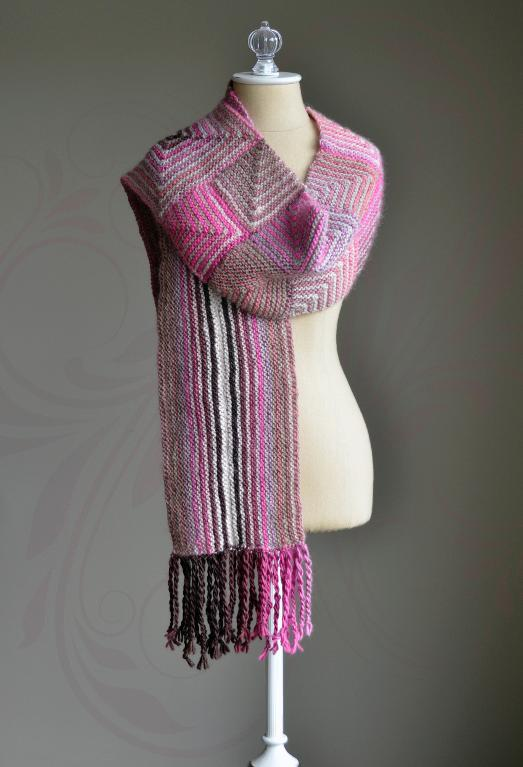 Mixed Miters Scarf