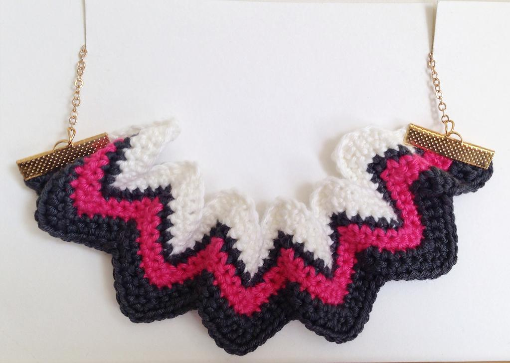 Chevron Zig Zag Necklace Crochet Pattern