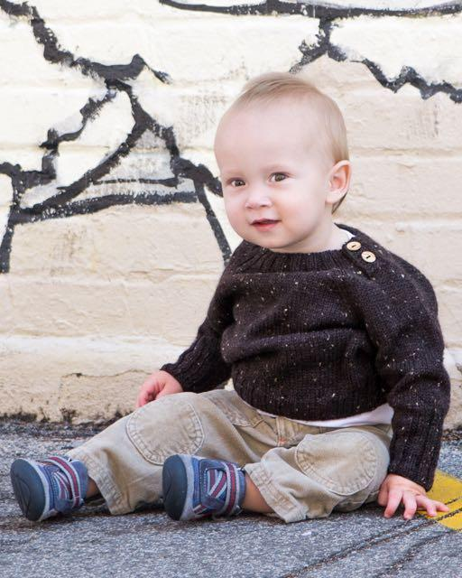 Omino (Little Man) Sweater Knitting Pattern