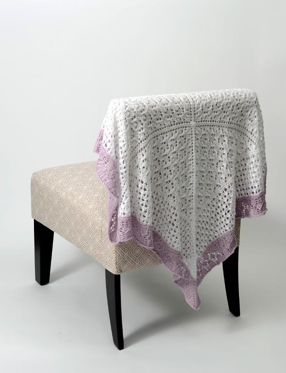 Lace Sampler Baby Blanket FREE Knitting Pattern