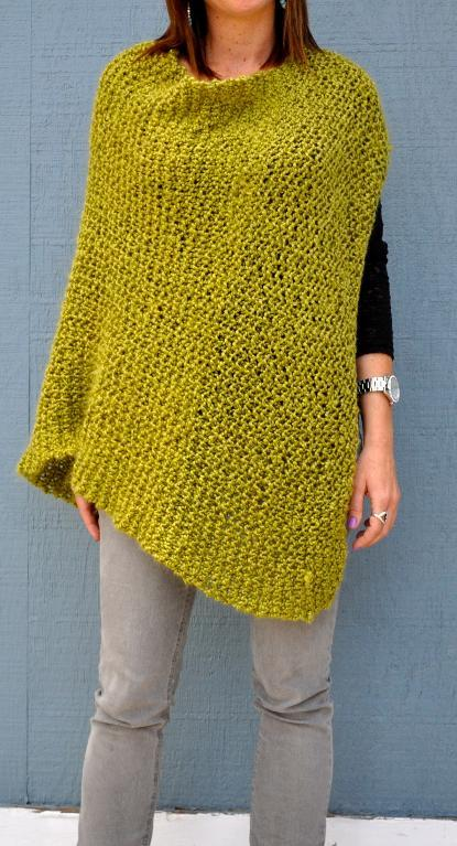 Beginning Poncho FREE Knitting Pattern