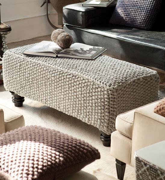 Ottoman Cover Knitting Pattern