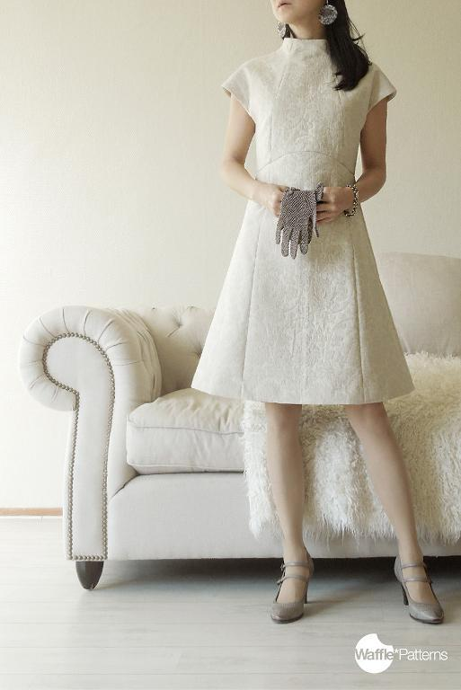 High-Neck Dress Snowball Sewing Pattern