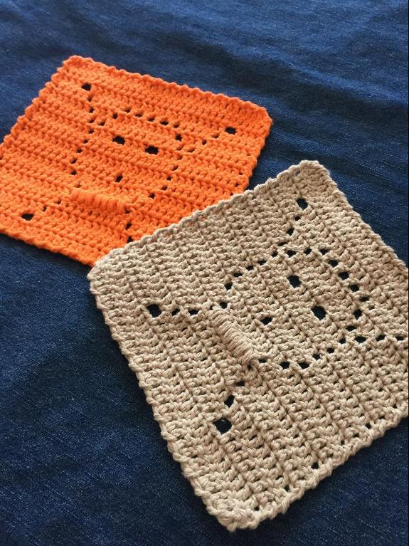 Crocheted Skull Dishcloth FREE Crochet Pattern