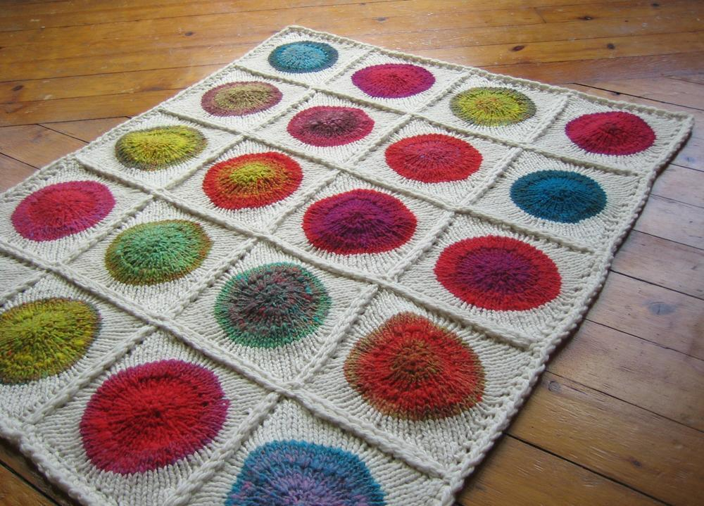 Colorful Polka Dot Short Row Blanket