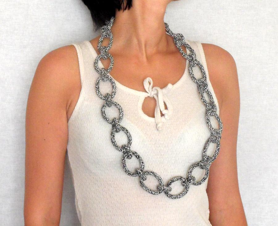 Chain Necklace Crochet Pattern