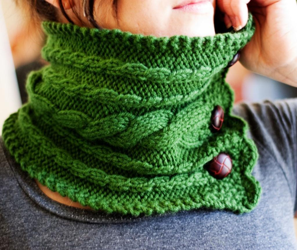 Ireland Neck Warmer knit