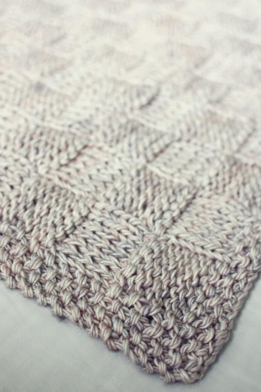 Basket Weave Baby Blanket FREE Knitting Pattern