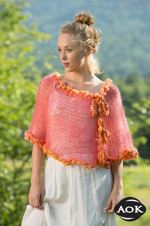 High Peak Poncho Knitting Pattern