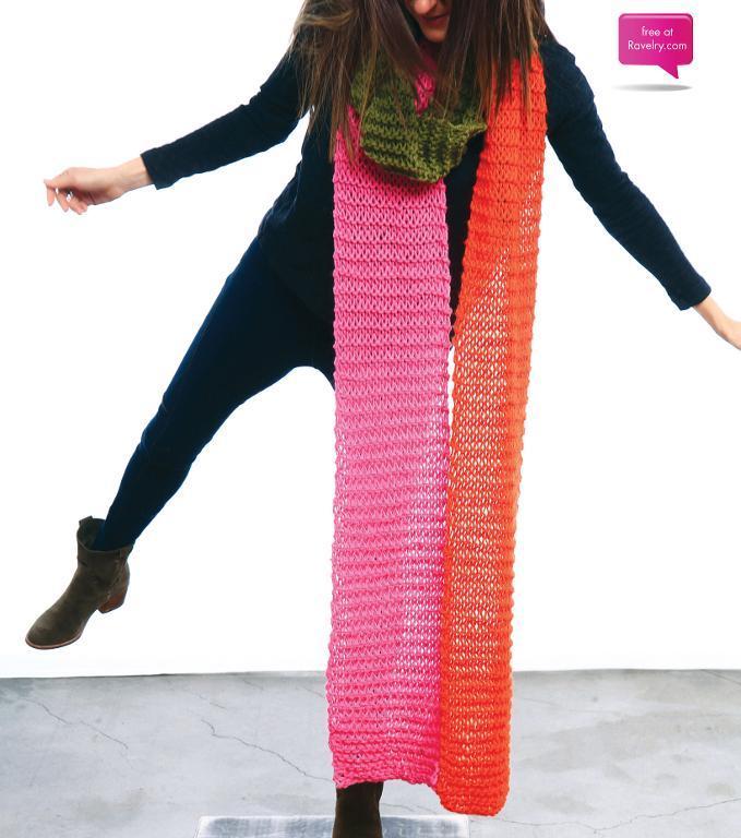 Snake Scarf FREE Knitting Pattern