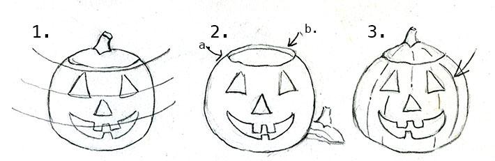 draw a jack o'lantern shape
