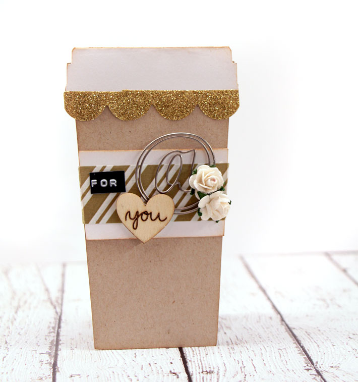 Metal Clip Embellishment Coffee Cup Card