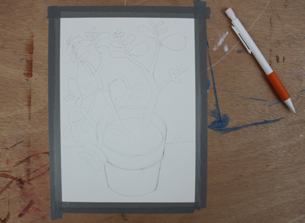 contour line drawing for painting