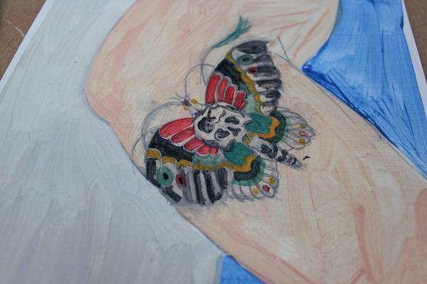 glazing tattoo color
