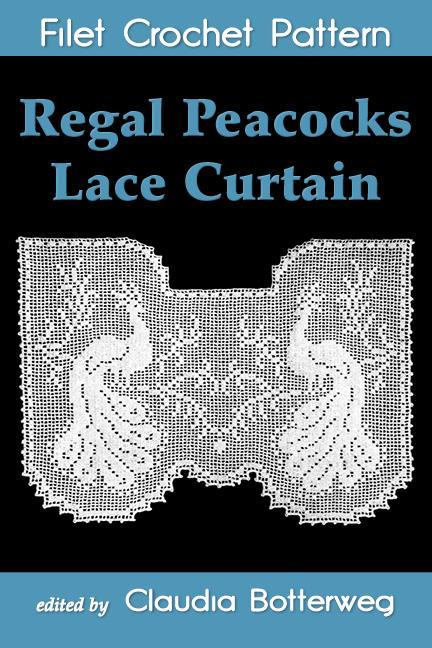 peacocks crochet curtain