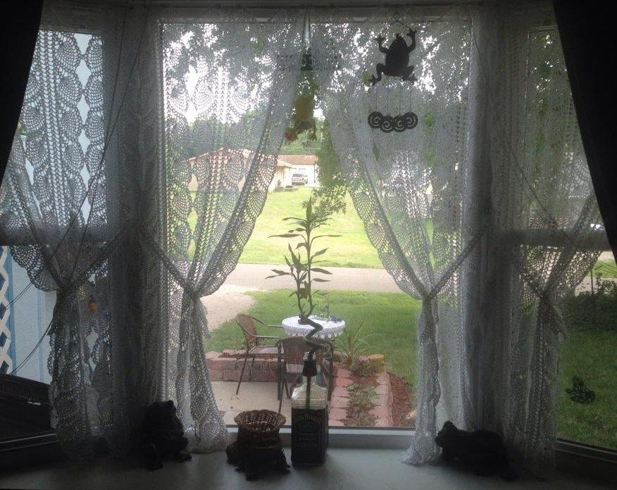 pineapple crochet curtains pattern