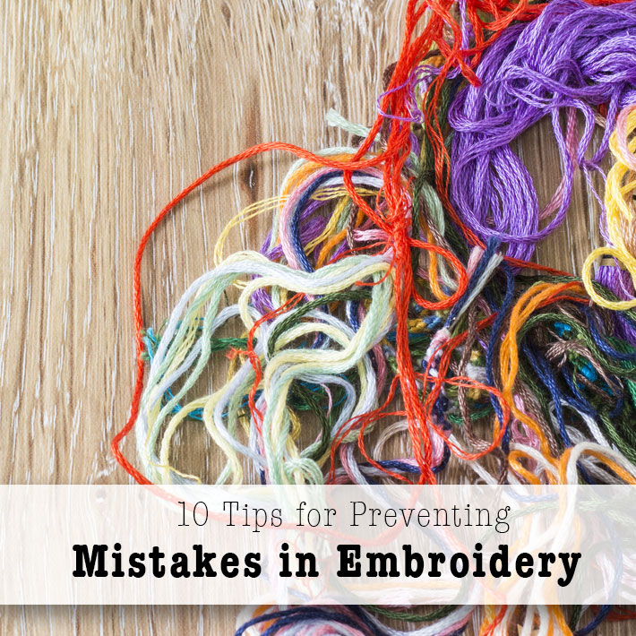 Tips for avoiding common embroidery mistakes