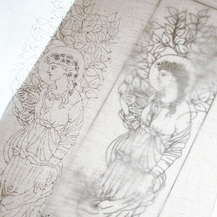 tracing an embroidery design