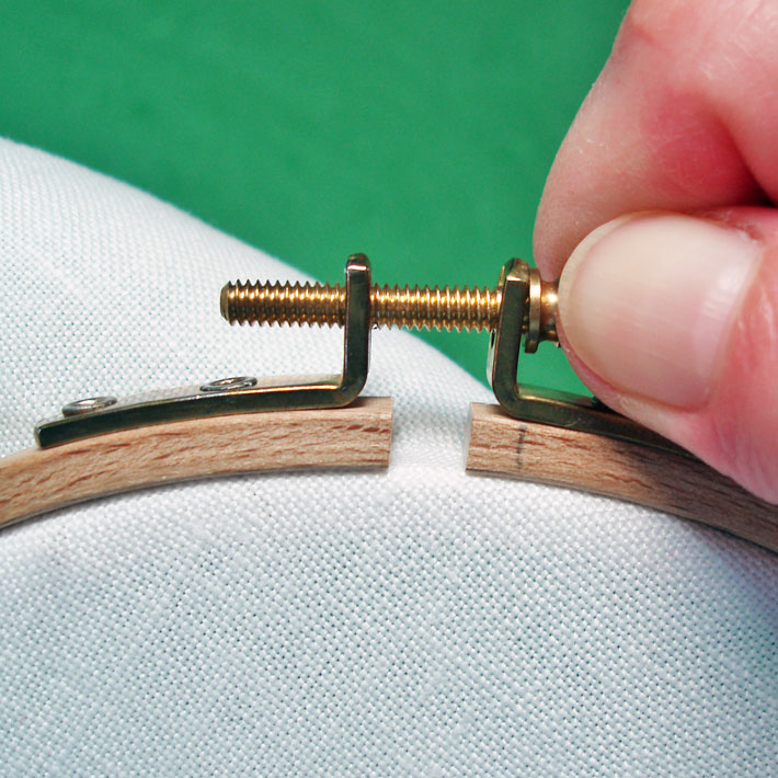 using a hoop for embroidery