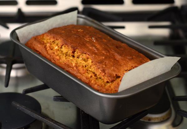 Reduced Guilt Pumpkin Bread Loaf