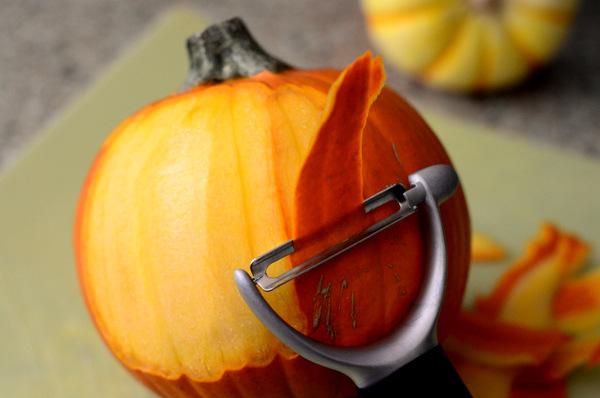 Peeling a Pie Pumpkin