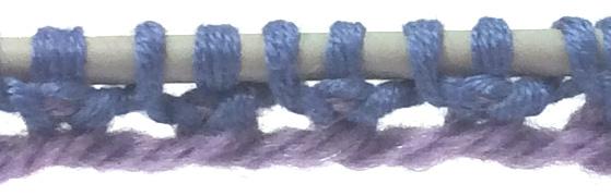 Tubular Cast-on Row 2 Completed