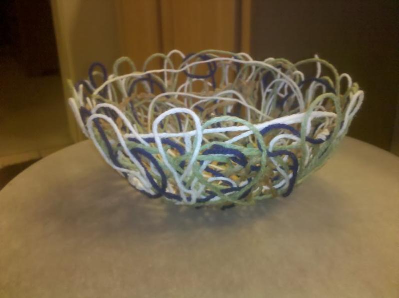 yarn mache bowl