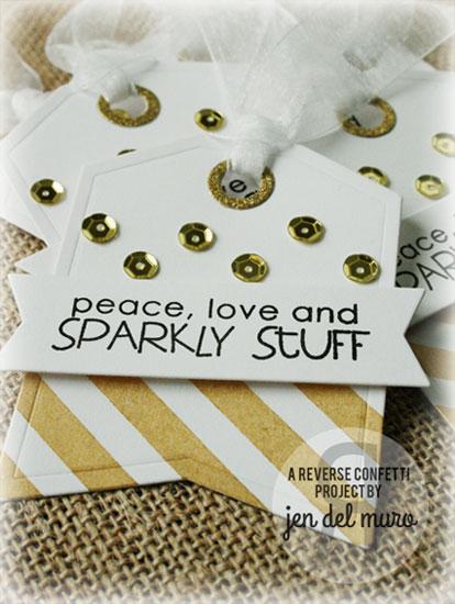Sparkly Stuff tag by Jen Del Muro