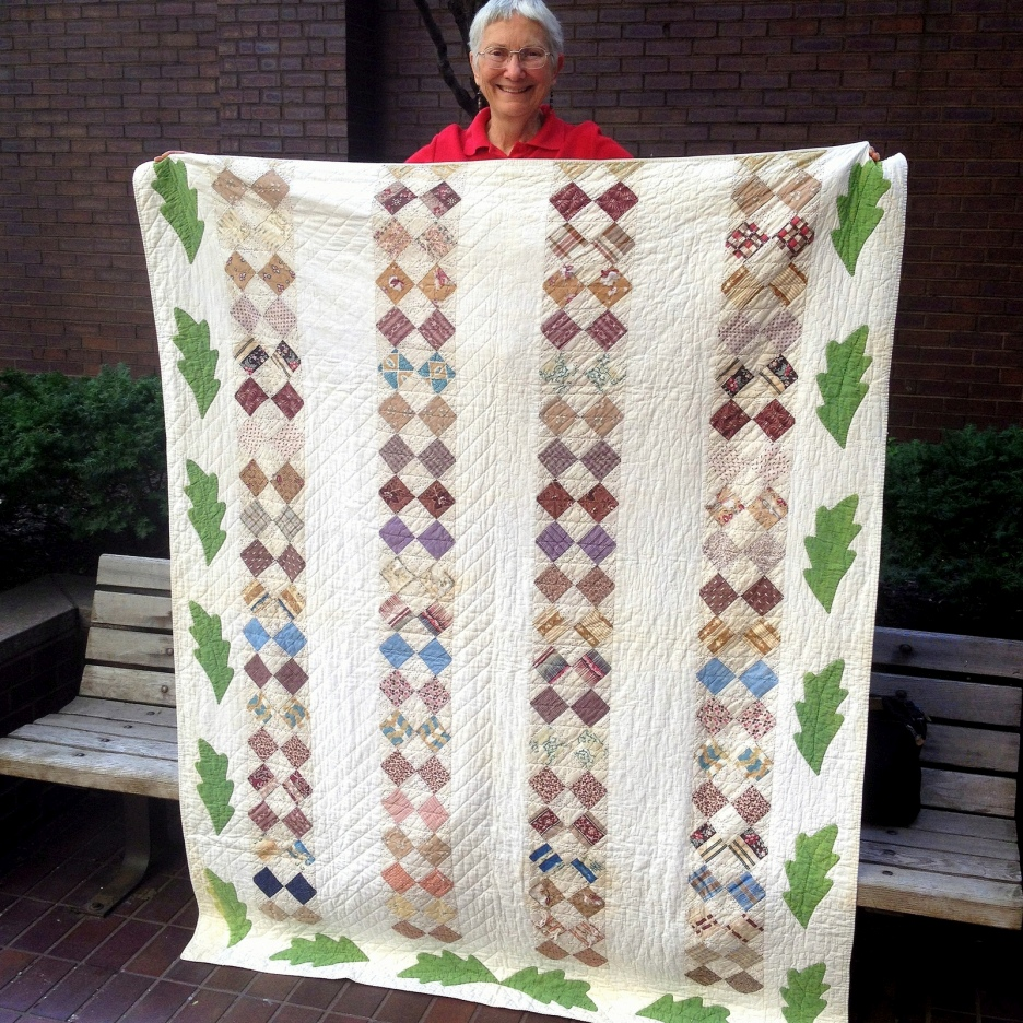 Laurel Horton; Strippy Four-patch Quilt