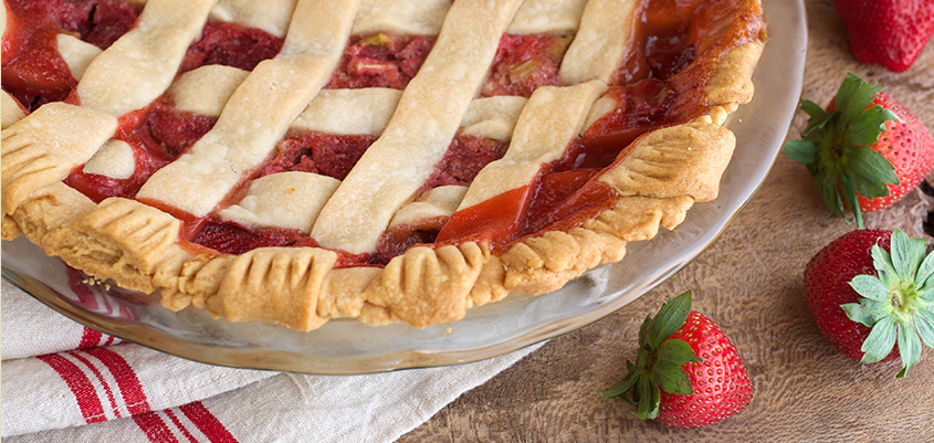 Baked Strawberry Pie with Lattice Crust