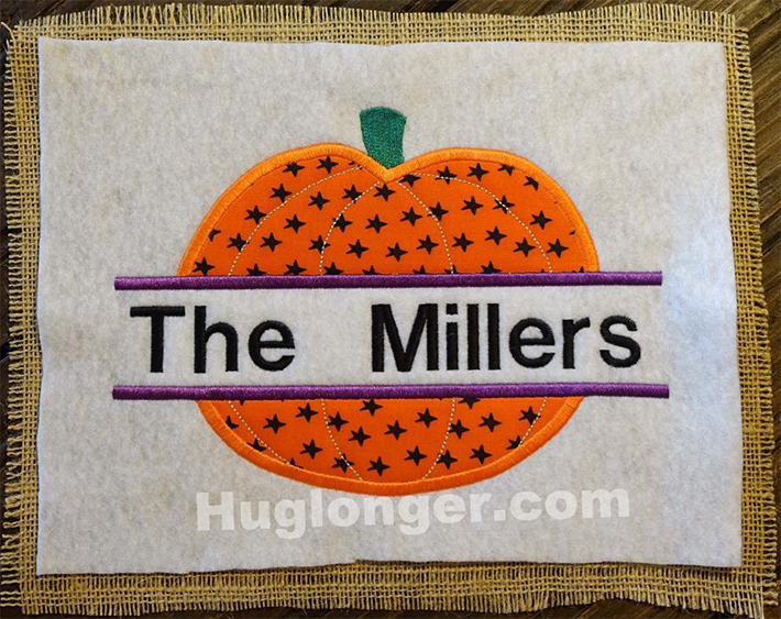 Applique Split Pumpkin embroidery