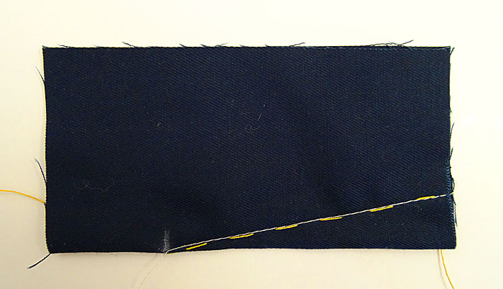 Basted and Machine Sewn Dart