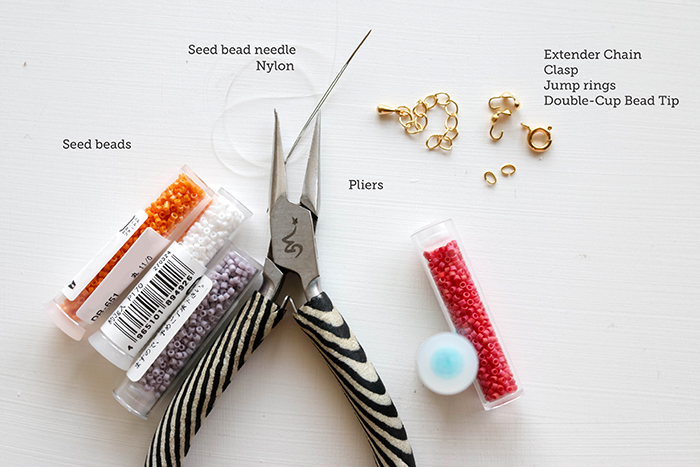 Beaded Seed Bead Bracelet- Tools for the project