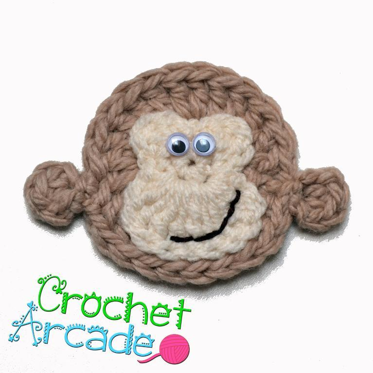 Crochet Monkey Applique