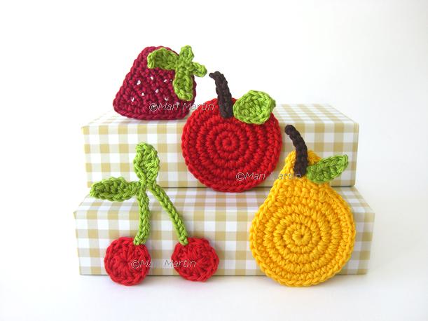 Fruit Crochet Appliques