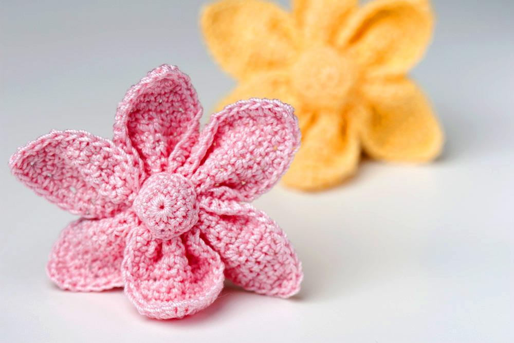 3-D Crochet Flower Applique
